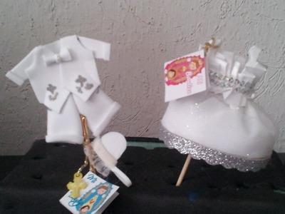DIY recuerdo de bautizo trajecito  niño