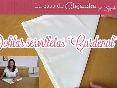 "Doblar servilleta ""Cardenal"" - DIY Fold ""Cardinal"" napkin"