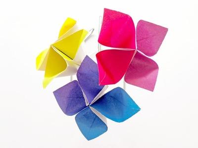 Flor en Origami | Manualidades - DIY