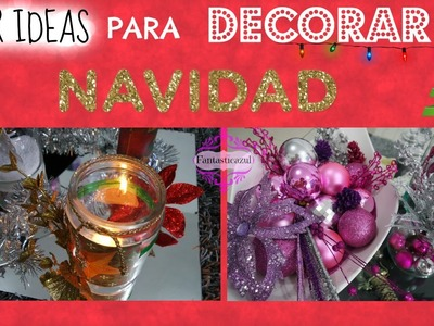 IDEAS PARA DECORAR EN NAVIDAD.Diy Winter Holiday Decor