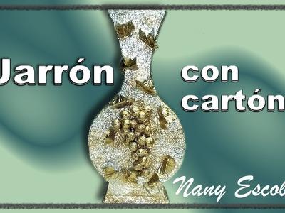 JARRÓN CON CARTÓN. VASE WITH CARDBOARD