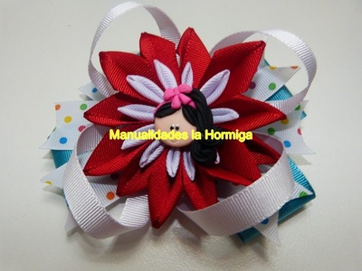 Lindas flores en cinta delgada para decorar centros de lazos moños para el cabello
