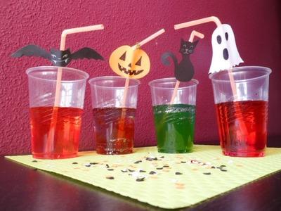 Manualidades Infantiles: Pajitas decoradas para Halloween
