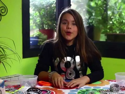 Manualidades para niños: Pulsera con material reciclado