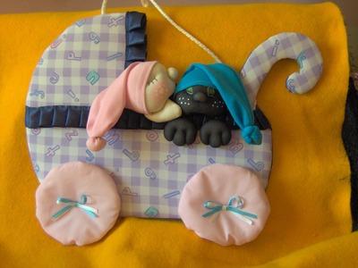Muñecos soft. cochecito bebé. proyecto 167