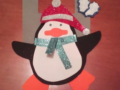 Pingüino de Navidad ❄ Adorno manualidad ❄ Navivlog 2014 ❄