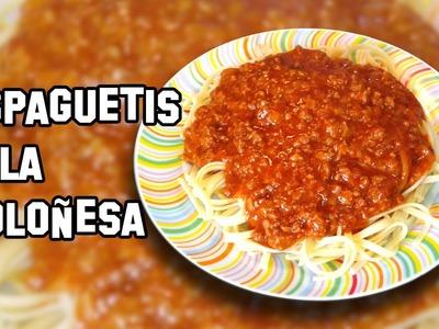 Recetas de Cocina | Como Hacer Espaguetis a la Boloñesa