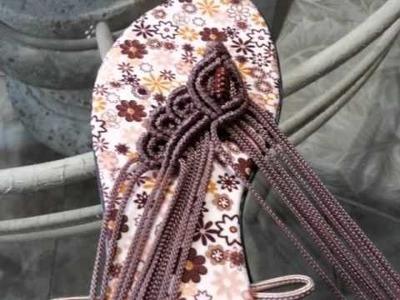 Sandalias hechas a mano con Tecnica de Macrame