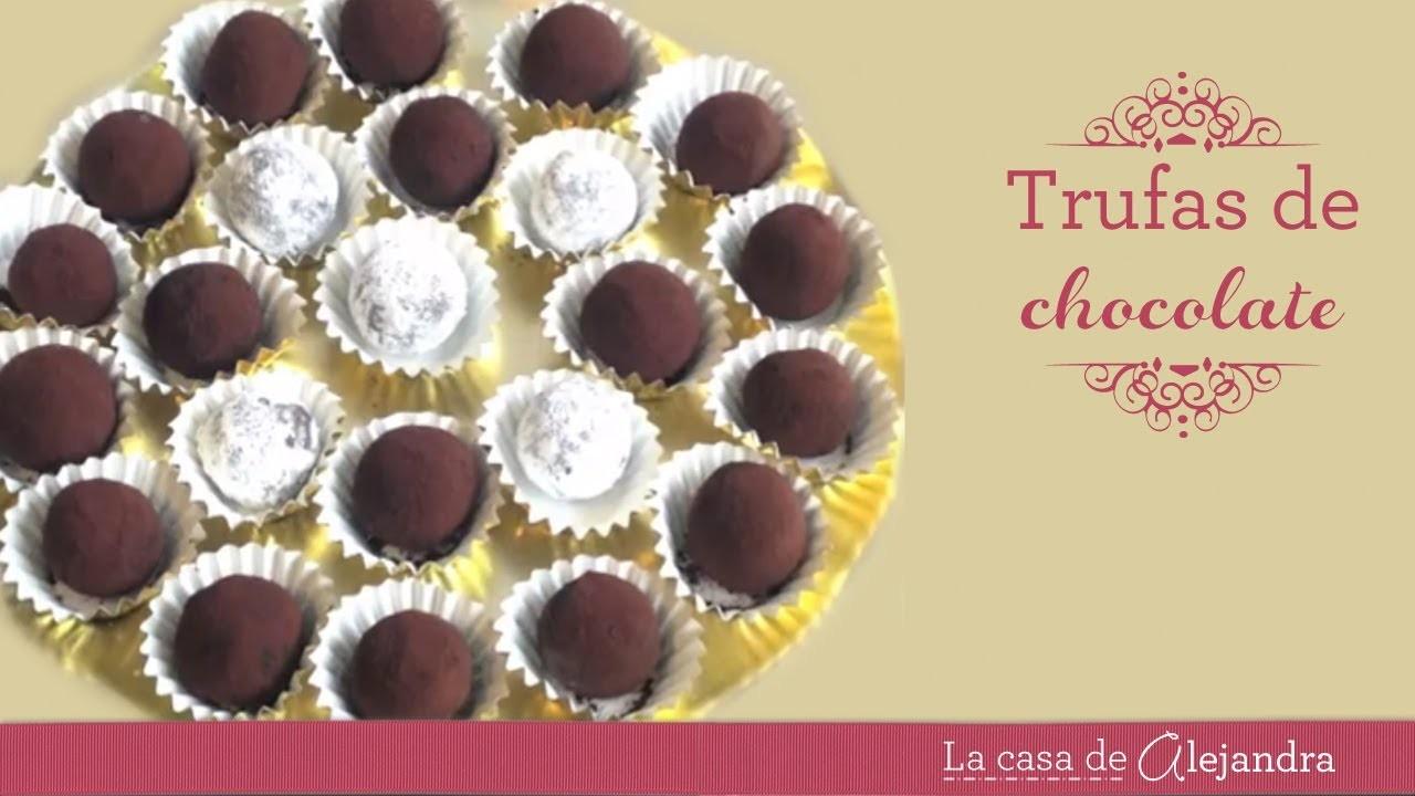 Trufas de chocolate DIY Chocolate truffles