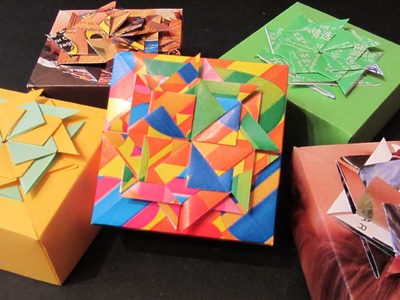 Tutorial: Cajitas decoradas. Boxes made of magazines.
