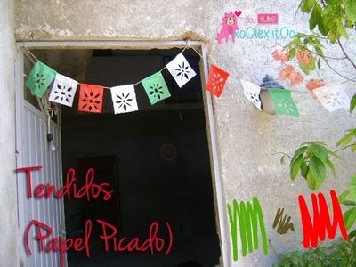 @xoOlexiitOo ❥#Tendidos ♥ Papel Picado #Adorno para Fiestas Patrias