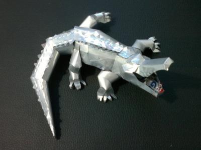 Cocodrilo hecho con latas de aluminio tutorial