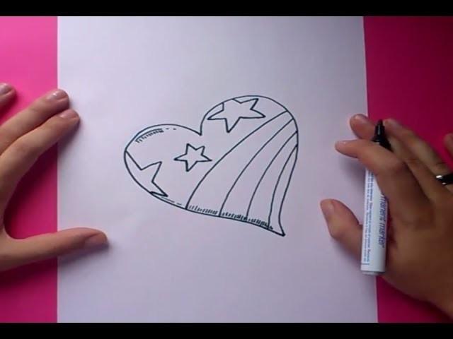 Como dibujar un corazon paso a paso 3 | How to draw a heart 3