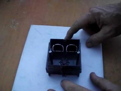 Cómo hacer agujeros para cajas de mecanismo o empalme, con amoladora o radial.