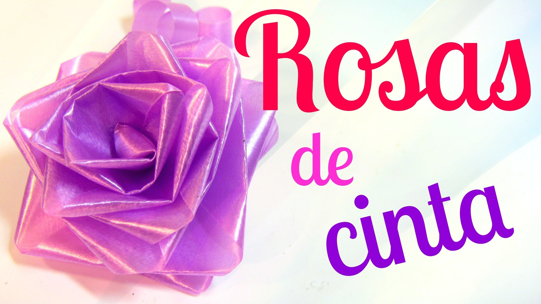 Cómo hacer rosas de cinta (lazos. moños para regalo).
