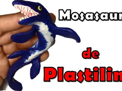 Como hacer un Mosasaurio de plastilina. How to make a  Mosasaur with clay