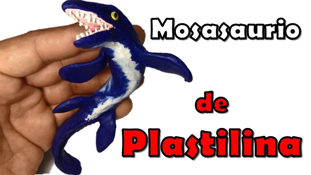 Como hacer un Mosasaurio de plastilina. How to make a  Mosasaur with clay