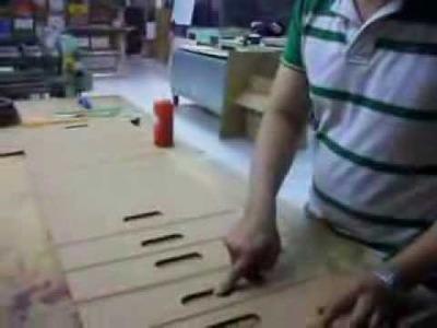 Como se hace una silla portátil y plegable en cartón