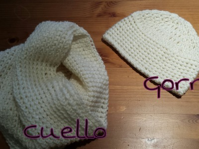 Cuello de Tubo y Gorro a juego. Tube nek Unisex hat game.(English Subtitles)