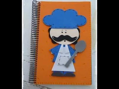 Decora Pastas Tapas Cubiertas de Cuadernos Note books En foami Goma eva Artfoamicol Patrones.wmv