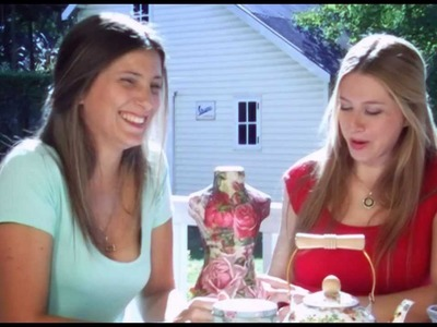 Día de Amigas - Episodio 16 Bolso artesanal, flores de papel y decoupage