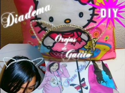 Diadema Orejas de Gatito (neko). DIY: Taylor Swift Inspired Cat Ears Headband