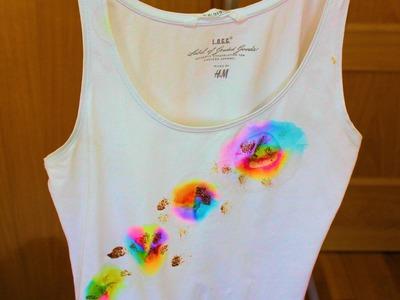 "Diy: camiseta pintada o ""teñida"""