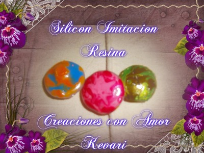 ✿✿❤ ❥ ♡ ♥ ღComo hacer Dijes de Resina con silicon caliente.How to make resin charmswith hot glue