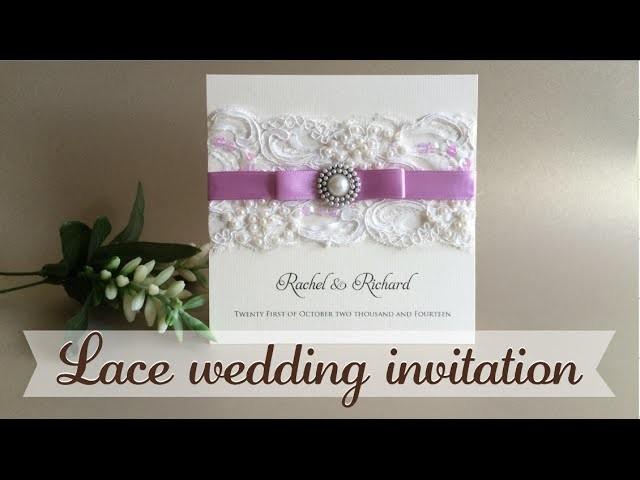 Invitación con encaje - Lace wedding invitation