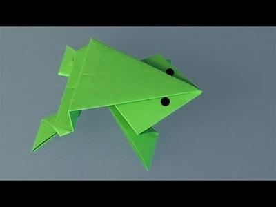 Papiroflexia, una rana de papel