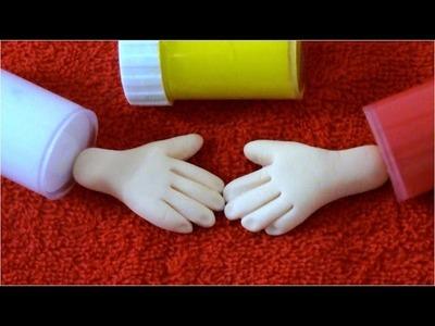 Porcelana fría Tips 8 como hacer color piel y manos para muñecas