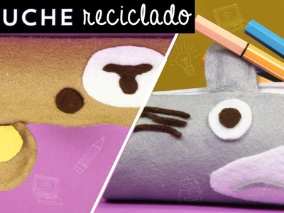 Portalápices kawaii con rollo de cartón reciclado (Totoro) ✎ Craftingeek