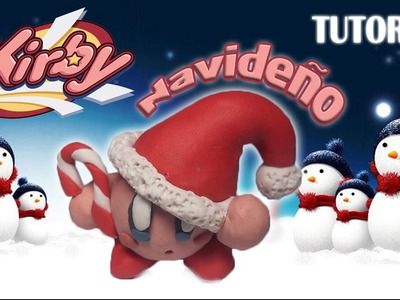 Tutorial Kirby Navideño en Plastilina. How to make a Christmas Kirby with Plasticine