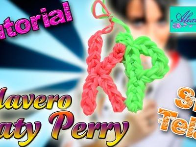 ♥ Tutorial: Llavero Katy Perry (KP) de gomitas (sin telar) ♥
