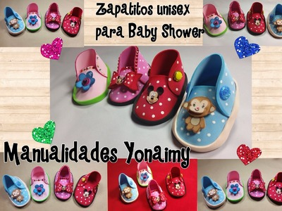 ZAPATITOS UNISEX  PARA BABY SHOWER DE FOAMY O GOMA EVA