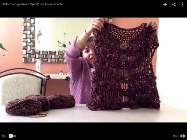 Chaleco con granizos - Tejiendo con Laura Cepeda