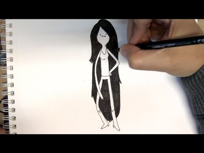 Cómo dibujar a Marceline Abadeer de Hora de Aventura - Dibujos para Pintar
