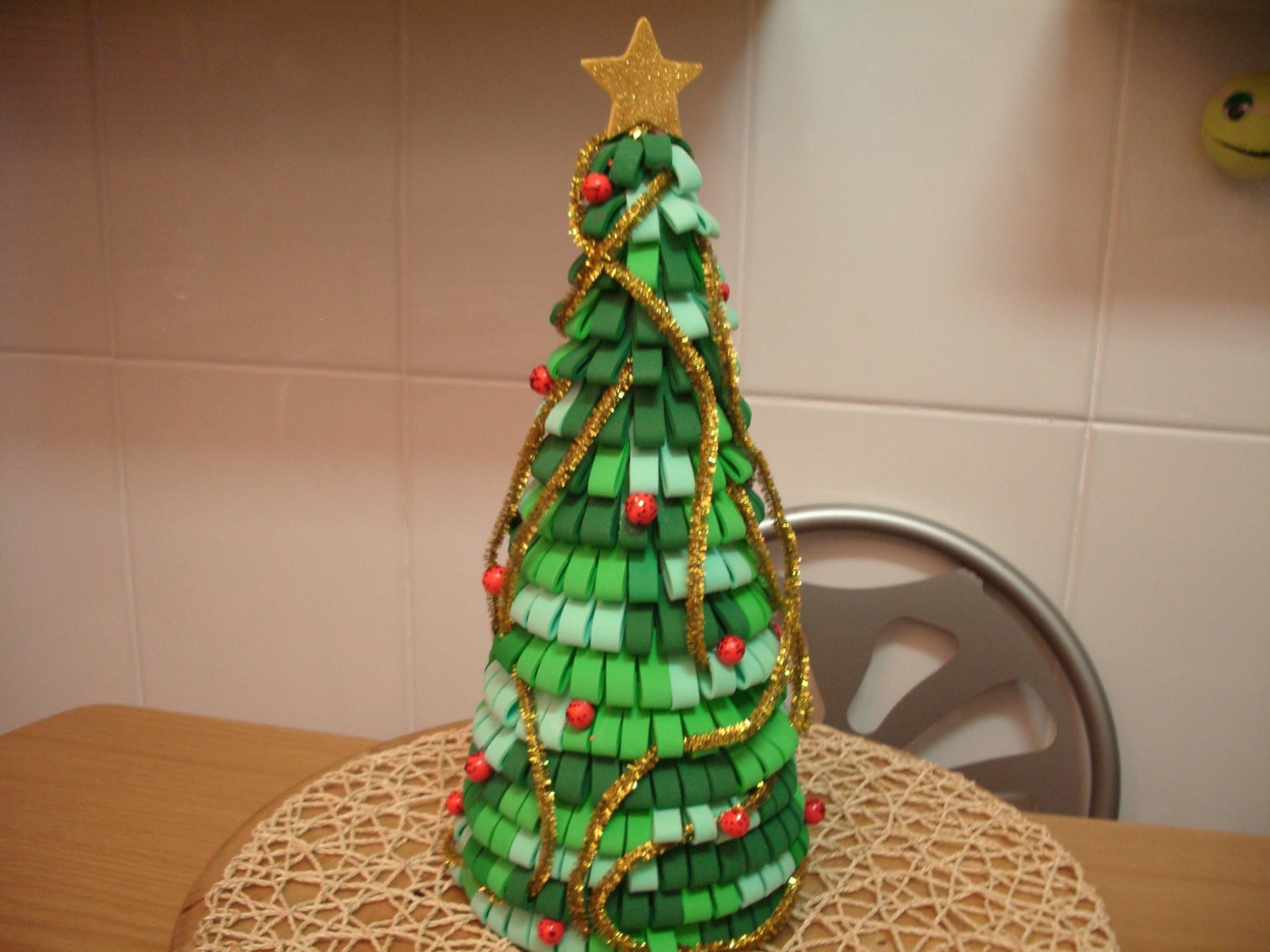 Como hacer arbol de navidad con goma eva - O arbol de navidad ...