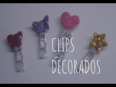 Cómo hacer clips decorados para decorar tu habitación MANUALIDADES CON LUNA [episodio 12]