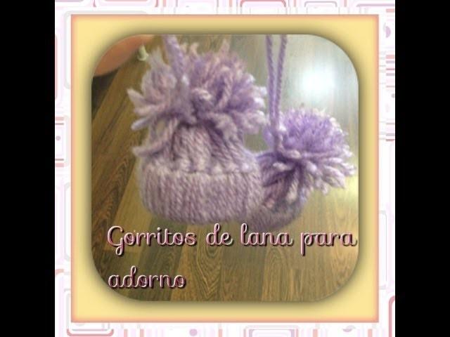 Como hacer  gorro de diy navidad de adorno.crochet hat
