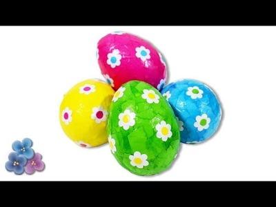 Como Hacer Huevos de Pascua FACIL con Decoupage!! Manualidades Fáciles 2014 Pintura Facil
