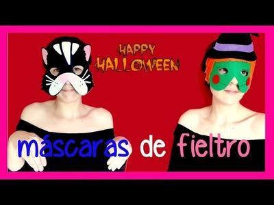 Cómo hacer mascaras de fieltro para Carnaval o halloween, ideas para disfrazarse