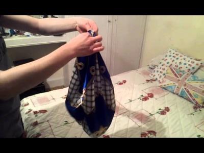 Como hacer un bolso de pañuelo sin coser