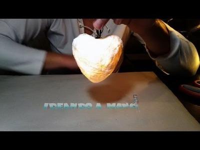 Cómo hacer un corazón con luces para decorar
