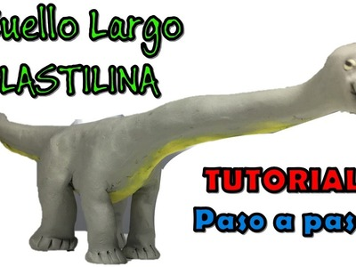 Como hacer un dinosaurio cuello largo de plastilina. How to make a long-necked dinosaur clay