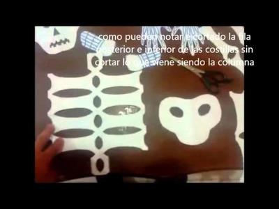 Como hacer un esqueleto de papel fácil y rápido