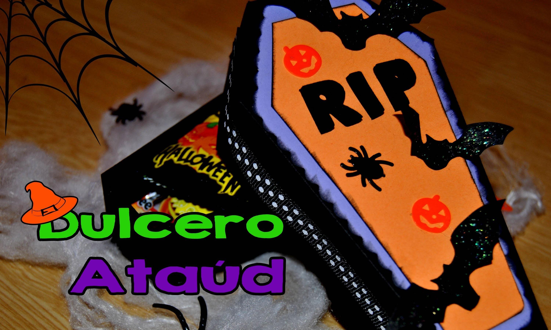 DIY : Dulcero Ataúd Halloween. Treat Box Halloween