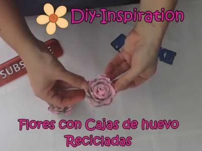 DIY: FLORES CON CAJA DE HUEVOS RECICLADAS