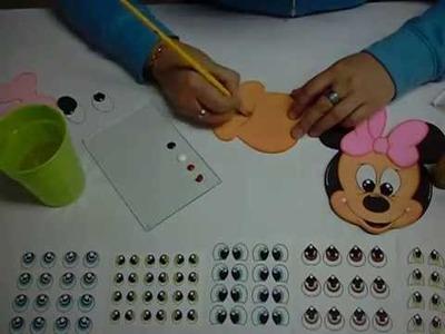 Gorro Minnie Mouse en Foami, Goma Eva, Microporoso (2da Parte)