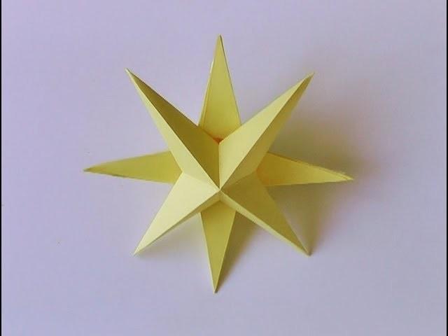 Manualidades - Estrella de navidad 3D - Manualidades para todos